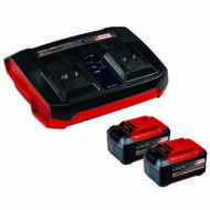 Einhell PXC Twincharger Kit akku és dupla töltő készlet, 36V, 2x5.2Ah