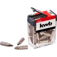 KWB Basic S2 PZ2 bit, standard csavarokhoz, 25mm, 25db