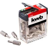 KWB Basic S2 Torx T20 bit, standard csavarokhoz, 25mm, 25db
