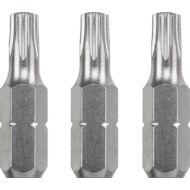 KWB Industrial TAMPER TORX hajtó bit, T25x25mm, 3db