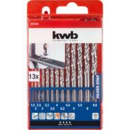 KWB Star HSS spirál fúrókészlet,  1.5-6.5mm+3.3, 4.2mm, 13 részes