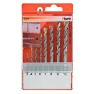 KWB TCT fúrószár készlet, 3-10 mm, 8 részes