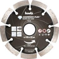 KWB PROFI BLACK-LINE szegmentált gyémánt vágókorong 125x22mm