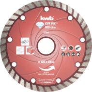 KWB PROFI RED-LINE szegmentált gyémánt vágókorong 125x22mm