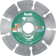 KWB PROFI GREEN-LINE szegmentált gyémánt vágókorong 115x22mm