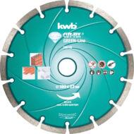 KWB PROFI GREEN-LINE szegmentált gyémánt vágókorong 178x25,24mm