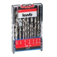 KWB HSS hengeres spirálfúró klt. 1,0-10,0 mm (19db-os)