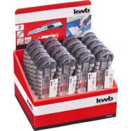KWB tördelhető pengés kés, automatikus zárás funkcióval, 18mm