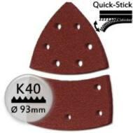 KWB tépőzáras csiszolópapír P40, 100x62mm, 5db