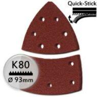 Tépőzáras csiszolópapír P80 / 100x62 mm  (5 db)