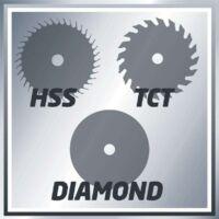 Einhell TC-CS 860/1 Kit mini kézi körfűrész