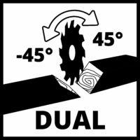 Einhell TE-SM 2534 Dual gérvágó fűrész, 250mm, 1800W