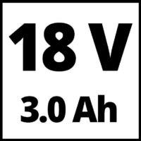 Einhell PXC TE-AG 18/115 Li Kit akkus sarokcsiszoló, 115mm, 18V, 1x3.0Ah