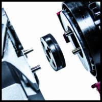 Einhell AXXIO 18/125 Q akkus sarokcsiszoló, 18V, 125mm (akku nélkül)