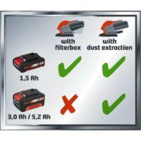 Einhell PXC TE-OS 18 Li Solo akkus rezgőcsiszoló, 18V, akku és töltő nélkül