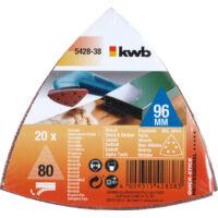 KWB deltacsiszoló papír 93x93mm GR120