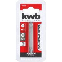 """KWB Industrial dupla bit PH2 és PZ2 meghajtó oldallal, 1/4"""", 60mm"""