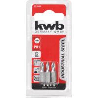 KWB Industrial MRG PH3 behajtó bit, acél, 25mm, 3 db