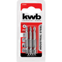 KWB Industrial MRG PH1 behajtó bit, acél, 50mm, 3 db