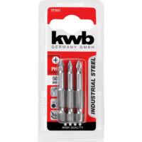 KWB Industrial MRG PH2 behajtó bit, acél, 50mm, 3db