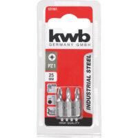 KWB Industrial MRG PZ2 behajtó bit, acél, 25mm, 3db