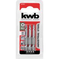 KWB Industrial MRG PZ3 behajtó bit, acél, 50mm, 3db