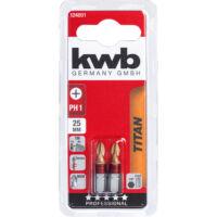 KWB TITAN MRG torzios behajtó bit PH1, 25mm, 2db