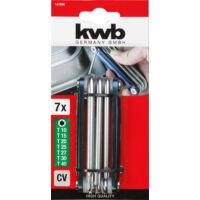 KWB Profi HEXAGON T-csavarkulcs készlet, összecsukható, T10-40, 7részes