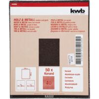 KWB Profi Wood&Metal csiszolólap, 230x280mm, 50db, G80