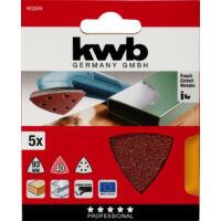 KWB Profi Quick-Stick tépőzáras delta csiszolópapír, fém-fa, 96mm, G80, 5db
