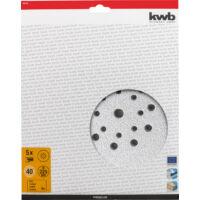 KWB Quick-Stick tépőzáras csiszolókorong, G80, 225mm, 5db