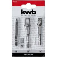 KWB dugókulcs adapter készlet, CrV, 3 részes
