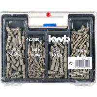KWB Standard spirálfúró és műanyag dübel készlet, 300 darabos