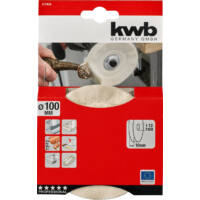 KWB csapos rongy polírozó korong, 75mm