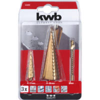 KWB Profi HSS-Titánium lépcsősfúró készlet, 2+1db