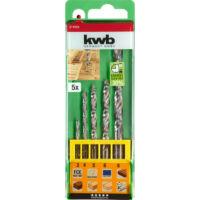 KWB FCE HSS-M2 hengeres fafúrószár készlet, 5 részes