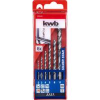 KWB Star HSS spirál fúrókészlet, 2-8mm, 6 részes