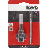 KWB Profi TCT, HM, SDS Plus befogású közponfúró adapter, 35-105mm