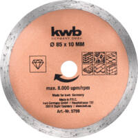 KWB Profi HSS, HM, TCT, gyémánt mini körfűrészlap készlet, 5 részes