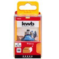 KWB PROFI HSS TCT csapágyas kerekítő kés 25