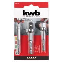 KWB PROFI CrV dugókulcs adapter klt. (3db-os)