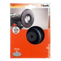 KWB PROFI BACKING-PAD gumitányér fúrógéphez 8x125mm