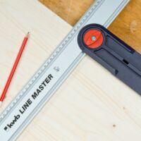 KWB LINE MASTER PROFI univerzális vezetőléc szög segéd 30°-150°