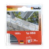 KWB PROFI acél tűzőgép kapocs (1200db)