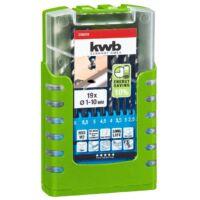 KWB AKKU TOP ENERGY SAVING 10% HI-NOX HSS-M2 hengeres fúrószár klt. (19db-os)