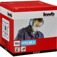 KWB FFP 2-es kilégző szelepes védőmaszk, 10db