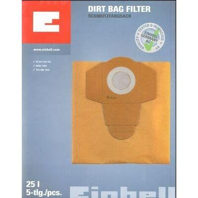 Einhell 25 literes 5db/ csomag porzsák