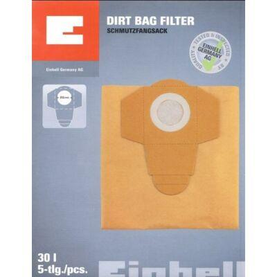 Einhell 30 liter 5db/ csomag porzsák