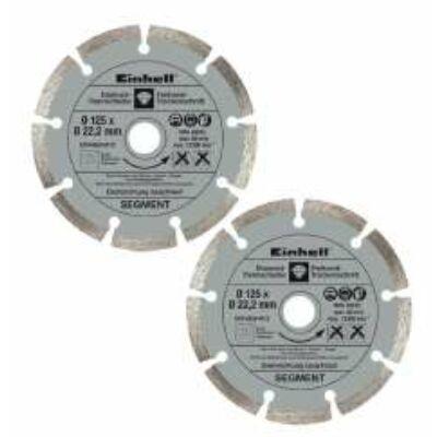 Einhell gyémánt vágókorong 125mm 2db/cs (szegmenses)
