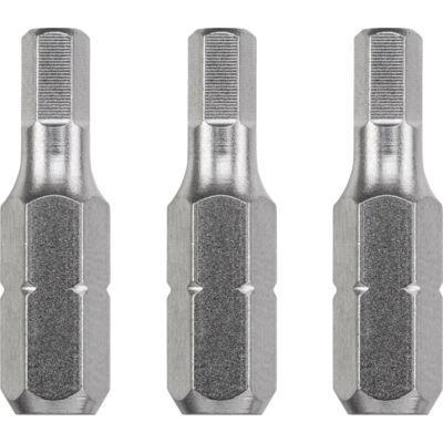 KWB Industrial HEXAGON hajtó bit, 4x25mm, 3db